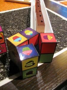cube à facettes pour choisir votre dessert