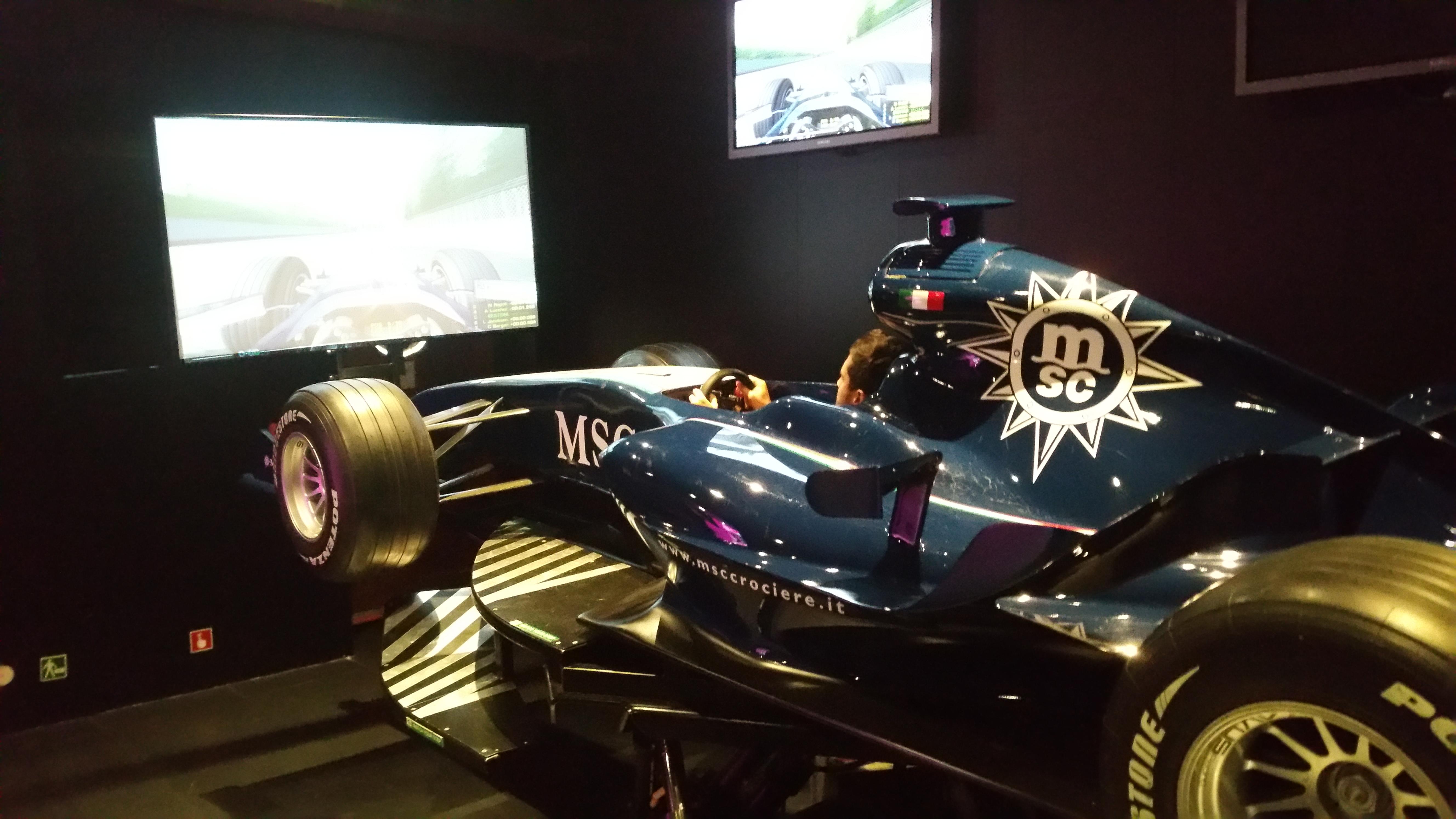 Simulateur Formule1 à bord du MSC FANTASIA